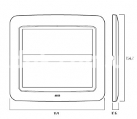 Рамка ZAMA металлическая,  5+5 модулей, белый, AVE 45P910BG
