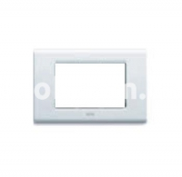 Рамка ZAMA металлическая,  трехмодульная, белый, AVE 45P93BG