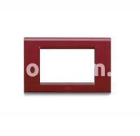 Рамка ZAMA металлическая,  трехмодульная, бордо, AVE 45P93BX