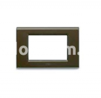Рамка ZAMA металлическая,  трехмодульная, бронзовый металик, AVE 45P93BZ