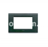 Рамка ZAMA металлическая,  трехмодульная, графит, AVE 45P93GF