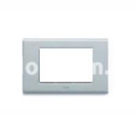 Рамка ZAMA металлическая,  трехмодульная, серый, AVE 45P93R