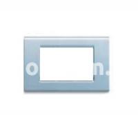 Рамка ZAMA металлическая,  трехмодульная, синий насыщенный, AVE 45P93AZM