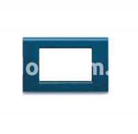 Рамка ZAMA металлическая,  трехмодульная, тёмно-синий, AVE 45P93BM