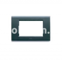 Рамка ZAMA металлическая,  трехмодульная, тёмный металик, AVE 45P93GSM