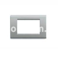 Рамка ZAMA металлическая,  трехмодульная, титан, AVE 45P93TI