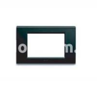 Рамка ZAMA металлическая,  трехмодульная, чёрный, глянцевая, AVE 45P93NL