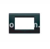 Рамка ZAMA металлическая,  трехмодульная, чёрный приглушённый, AVE 45P93NO