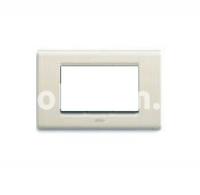 Рамка ZAMA металлическая,  четырехмодульная, бежевый, AVE 45P94BP