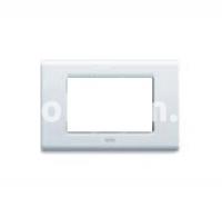 Рамка ZAMA металлическая,  четырехмодульная, белый, AVE 45P94BG