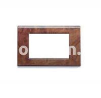 Рамка ZAMA металлическая,  четырехмодульная, дерево шиповника, AVE 45P94RD