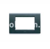 Рамка ZAMA металлическая,  четырехмодульная, тёмный металик, AVE 45P94GSM