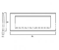 Рамка ZAMA металлическая,  шестимодульная, чёрный, глянцевый, AVE 45P96NL