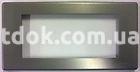 Рамка алюминиевая анодированя,  четырехмодульная, тёмная норка, AVE 45P44