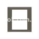 Рамка алюминиевая анодированя,  шестимодульная, тёмная норка, AVE 45P46