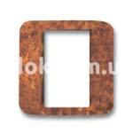 Вставка под одномодульную рамку, дерево шиповника, глянцевый, AVE 45CR1RD