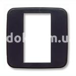 Вставка под одномодульную рамку, серый, матовый, AVE 45CR1GN
