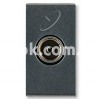 Розетка TV/Sat мама 4-2400 24Vdc-300mA 5-14db, черный, AVE 45396N