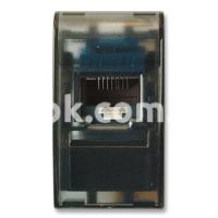 Розетка ТФ RJ45 5 cat., 8 контактов, чёрный, AVE 45328C5