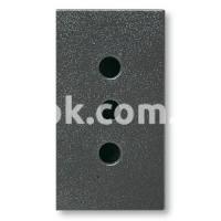 Розетка 2P+E 10A 250v, чёрный, AVE 45306TS