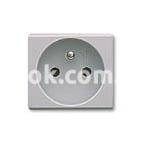 Розетка двухмодульная, 2P 16A 250v, серый, AVE 45592S