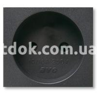 Розетка двухмодульная, 2P 16A 250v, чёрный, AVE 45392S