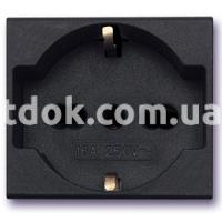 Розетка двухмодульная, универсальная, 2P+E 10/16A 250v, чёрный, AVE 45390/15TS