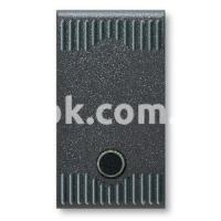 Выключатель проходной с подсветкой одномодульный, однополюсный, одноклавишный, 1P 20A-250v, чёрный, AVE 45302G