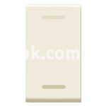 Выключатель с подсветкой одномодульный, однополюсный, одноклавишный, 1P 20A-250v, бежевый, AVE 45901G