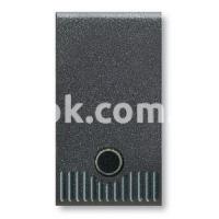 Кнопка с подсветкой 1P NO 20A-250v, чёрный, AVE 45305G
