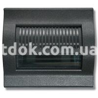 Корпус подсветки двухмодульный, 12-24-230V, чёрный, AVE 45370