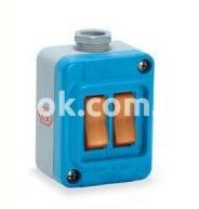Настенный выключатель Tais-Mignon, двухклавишный термостойкий IP67, Рalazolli 202275