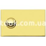 Пластинка для звонка с центральной кнопкой латунь, AVE 45P05C