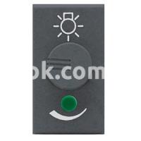 Регулятор (диммер) освещения, 100-500w, 230v, 50/60Hz, чёрный, AVE 45348