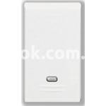 Регулятор (диммер) освещения кнопочный, 40-500w, 230v, 50/60Hz, белый, AVE 45B48L